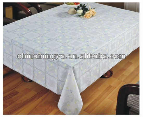 Vinyl lace table cloth for dinning room