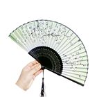 customized printed Japanese folding silk hand fan