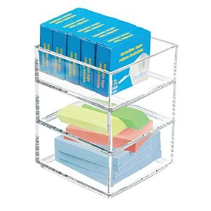 Clear Acrylic Stackable Desk Drawer Desk Organizer for Scissors, Pens, Markers, Highlighters, Tape
