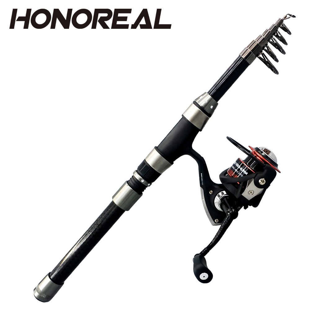 Pure Carbon Telescopic <strong>Fishing</strong> Rod And Reel Combo <strong>Fishing</strong> Tackle Set