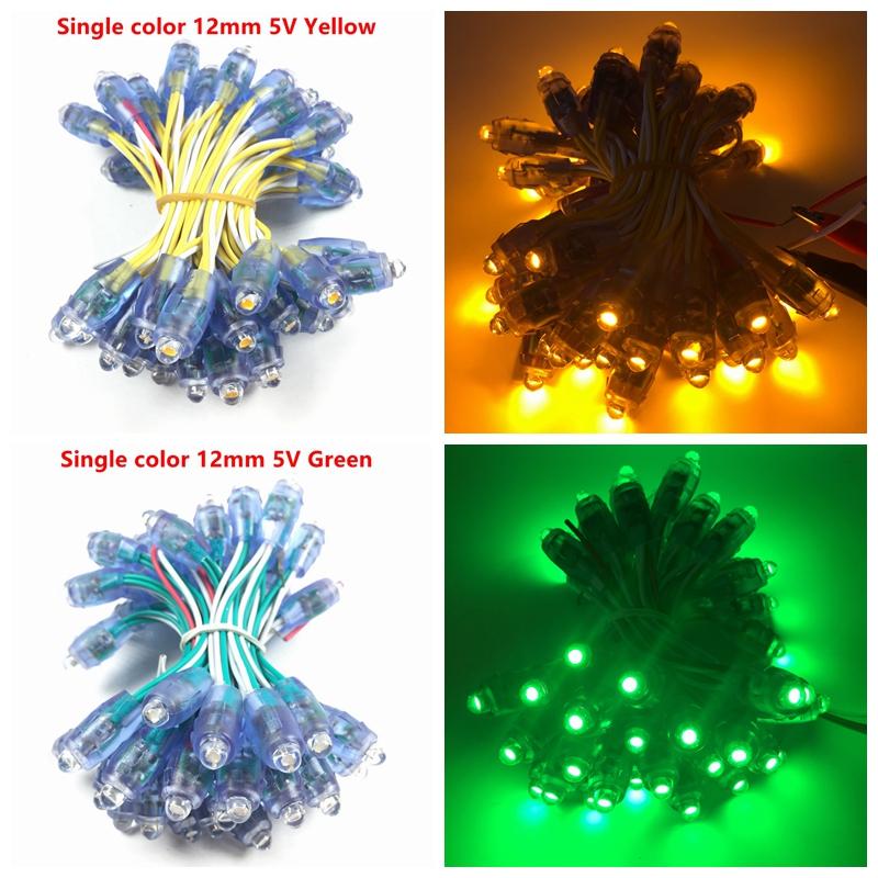 5v 12mm led ws2811 pixel module 50 node/string digital rgb full color waterproof ip68 led string for letters sign