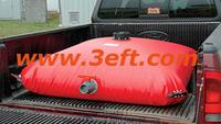 Collapsible fuel bladder/tank for truck base or platform