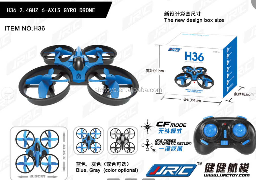 Hot 2016 JJRC H36 mini Drone 6-Axis Gyro Headless Mode Remote control quadcopter RTF 2.4GHz With Headless Mode One Key Return