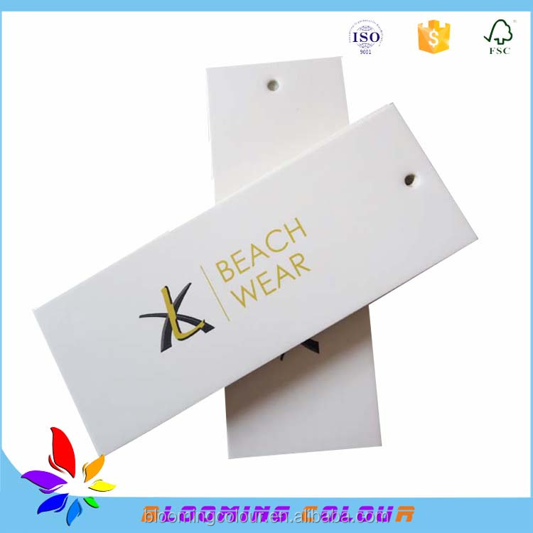 Made in china custom four colour printing cardboard swing tag