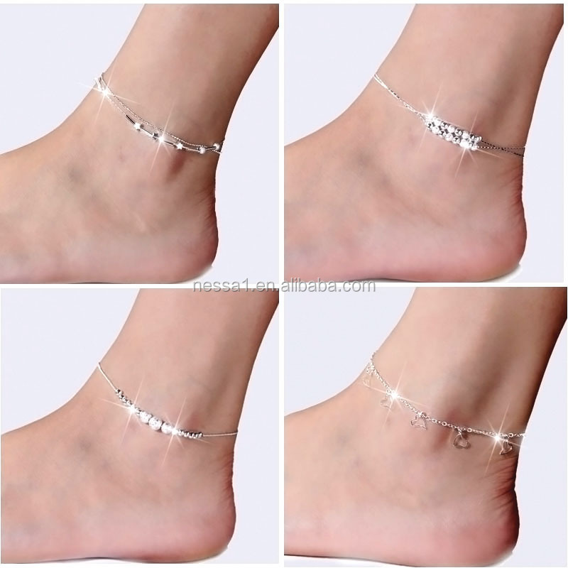 new design anklet,ankle <strong>jewelry</strong>, pure silver anklet <strong>jewelry</strong> Wholesale DY-0001