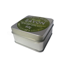 Embossed fancy metal soap tin boxes