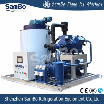 Factory Price Supply Bock Or Bitzer Compressor SamBo Used On Fishing Boat 5 Ton Salt Water Flake Ice Machine