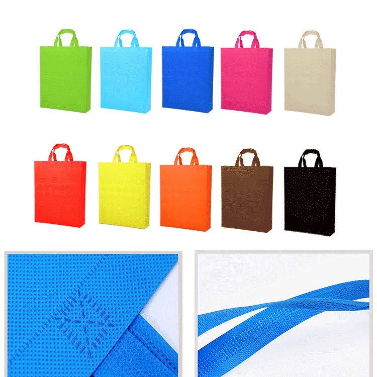 Hot Selling Promotional Customized High Quality Cheap gift Logo Printed Recycled Grocery Shopping Tote Handled Non Woven Bag