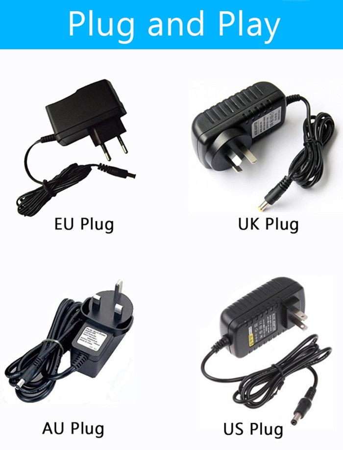 Wireless Hard Drive Case 3.5/'/' USB 3.0 HDD Enclosure Case Box US Plug