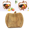 bamboo folding wooden color fruit basket