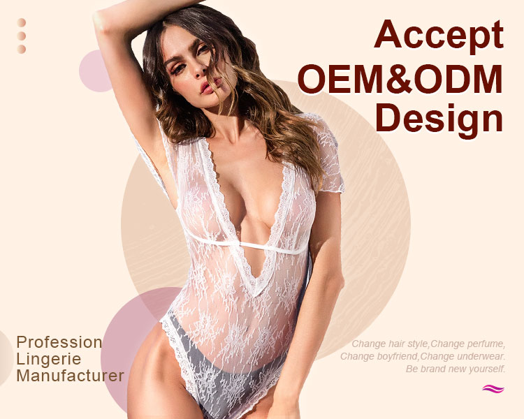 Hot Sale Lingerie Sexy Hot Transparent Erotic Breathable Babydoll Sexy Lingerie Lace Chemise Bodysuit Lingerie Sexy Femme