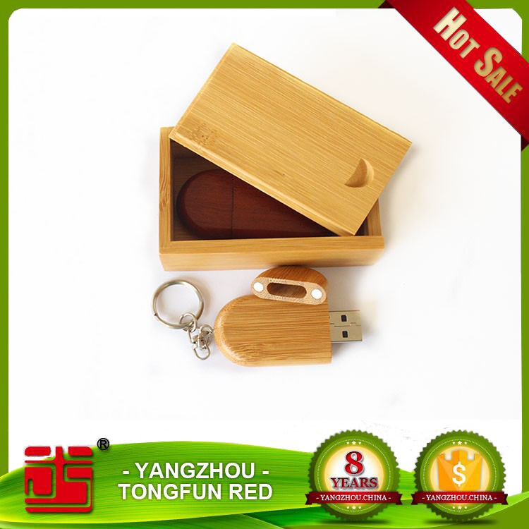 Eco-friendly bamboo usb flash disk wooden flash drive