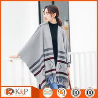 women knit sweater wholesale cardigan ladies crochet poncho pattern