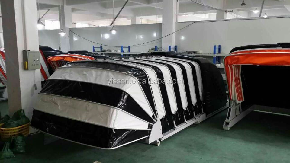 Outdoor solar control faltbare auto garage garage dach for 6 car garage for sale