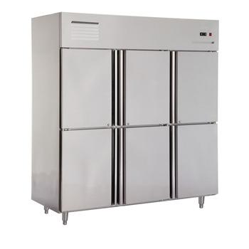 Double Temperature 6 Door Restaurant Refrigerator