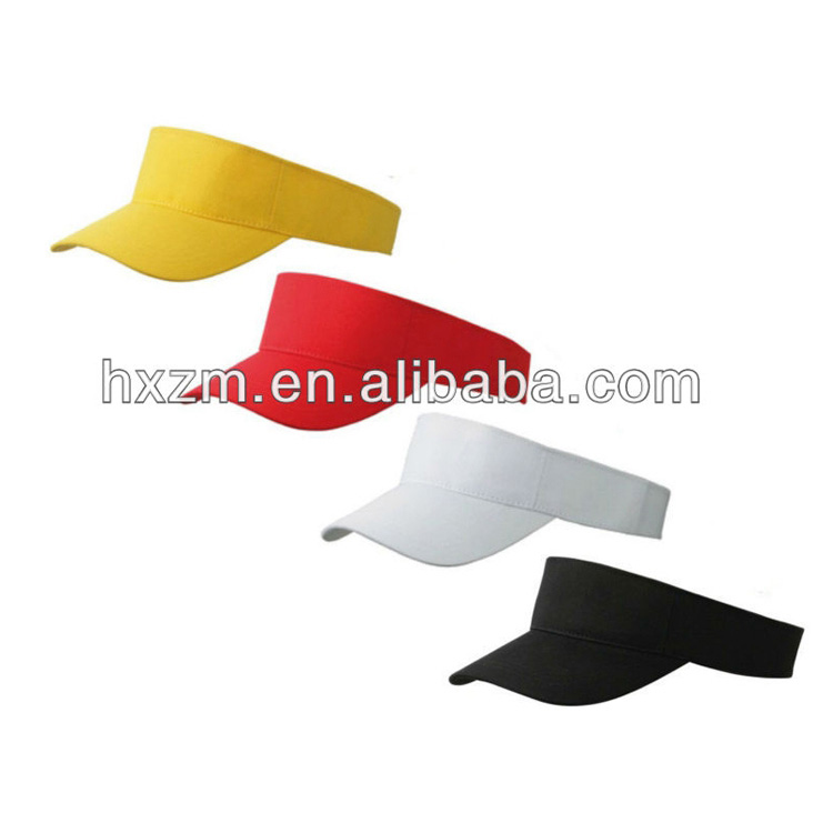 ece37c4c YELLOW RED WHITE BLACK SUN VISOR LIFEGUARD SPORTS GOLF CAP TENNIS HAT
