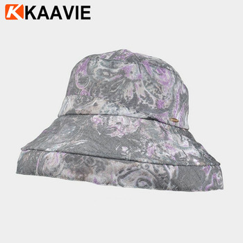 55cd9c0a9ddc3 Custom womens summer outdoor anti uv upf paisley printed scala bucket hats