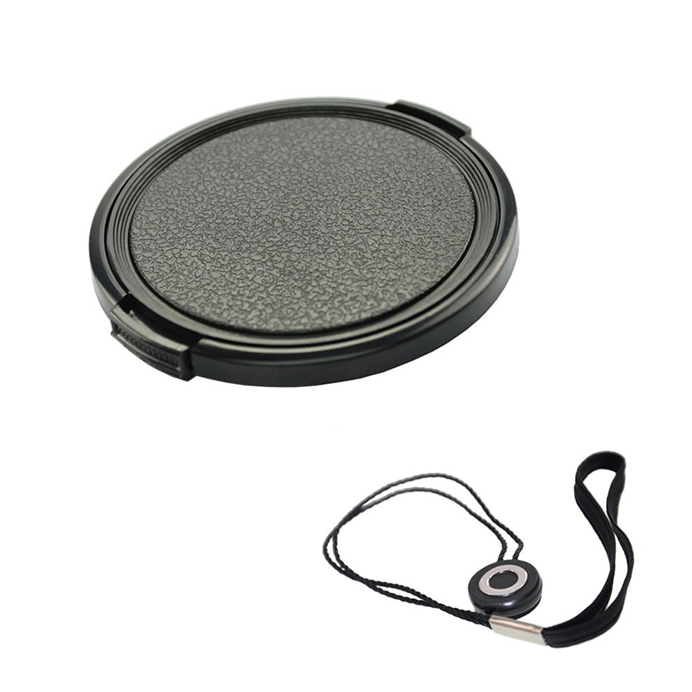 FoRapid 62mm Side-Pinch Snap-On Front Lens Cap/Cover with Lens Cap Holder Keeper for Canon Nikon Sony Olympus Pentax all DSLR Cameras