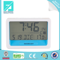 Fupu digital radio controlled travel alarm clock with alarm and snooze function for RCC DCF,MSF,WWVB,JJY