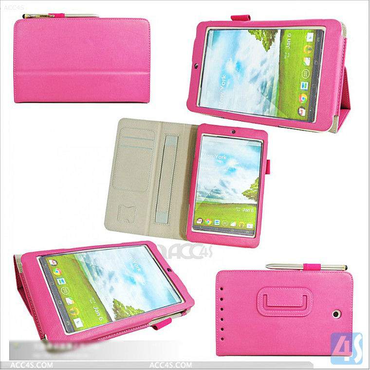For asus tablet cover stand leather case for asus memo pad hd 7 me173x P-ASUSMEMOHD7CASE002