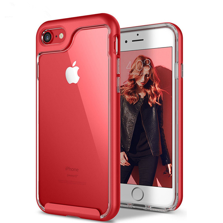 New Arrival Protective TPU + PC Frame 6 Colors For iPhone 7 4.7 Hybrid Phone Case Shell