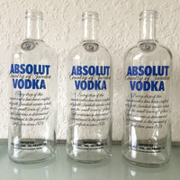 China 1 liter absolute glass vodka bottles