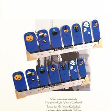 Blue White Halloween pumpkin Nail Arts Nail Sticker Waterproof Nail Decal Sticker Gel Polish French Manicure