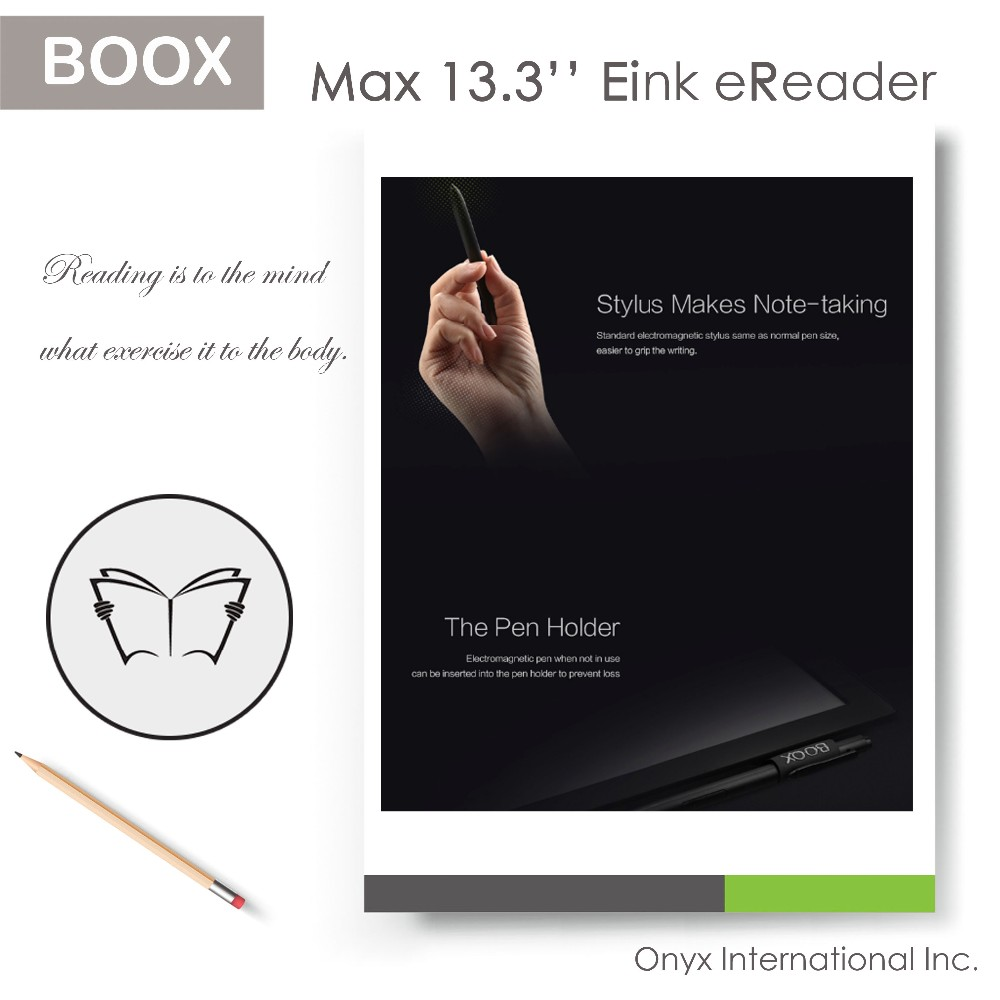 13.3 inch e ink big display ebook reader for multi-function