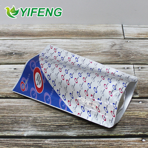 Retail Silver Aluminum Foil Bag Open Top Heat Seal Food Storage Packing Pouch Plastic Vacuum Package Bag