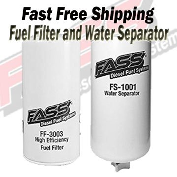 FASS Titanium Series Fuel Filter and Water Separator Combo With FF-3003 and FS-1001 Water Separator for Fuel Pump