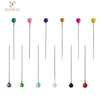 Round shape colored Pearl head straight pin for decoration