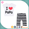 Cheap custom casual child clothes girls printed t shirts and short pants suits