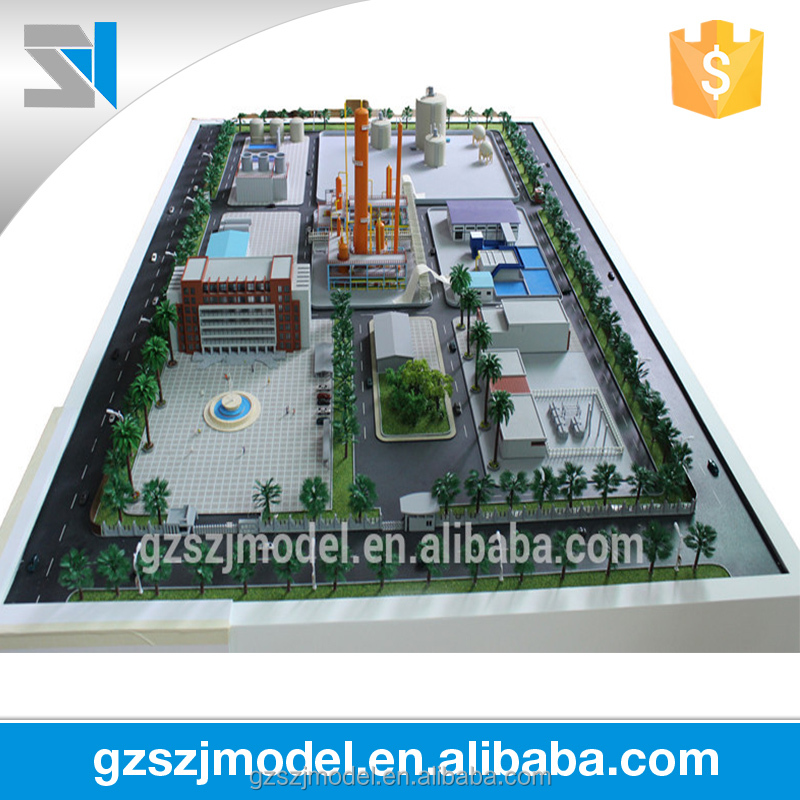 Factory building scale model -3d miniature model building
