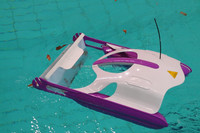 Swimming pool surface skimmer for leaves, insetcs and seed, automatic pool cleaner with remote control