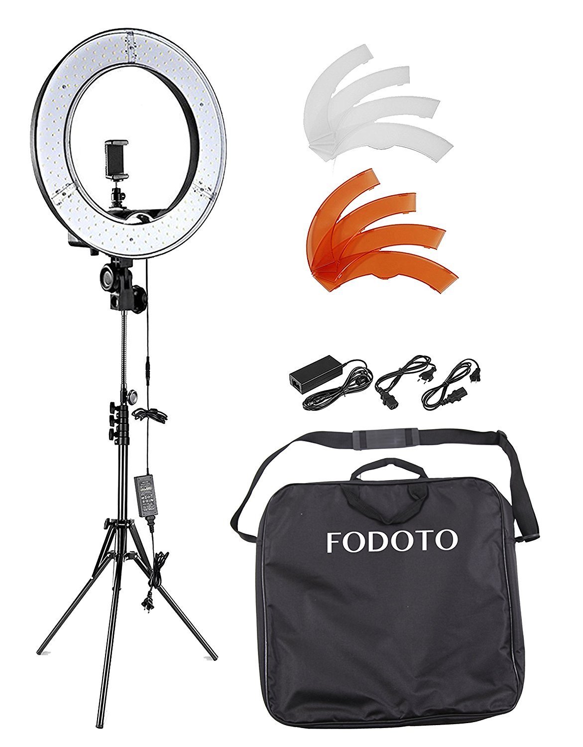 Fodoto 13 inch LED Diva Ring Light 1800w Photo Video Softbox Continuous Lighting Kit