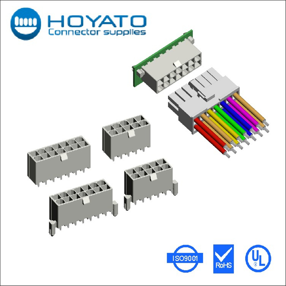 Molex mini fit connector 4.2 4.20mm 4.2mm female male housing/wafer/terminal connector, one dual rows, 2 to 12 24 circuits