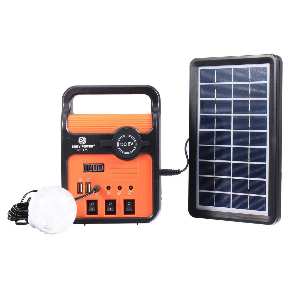 25W Solar Power System Power Generator With Solar Panel Bulbs with Sock USB Port - Electrical Equipment & Supplies Other Electrical Equipment - 1 x Hot Melt Glue Gun, 1 x Stand
