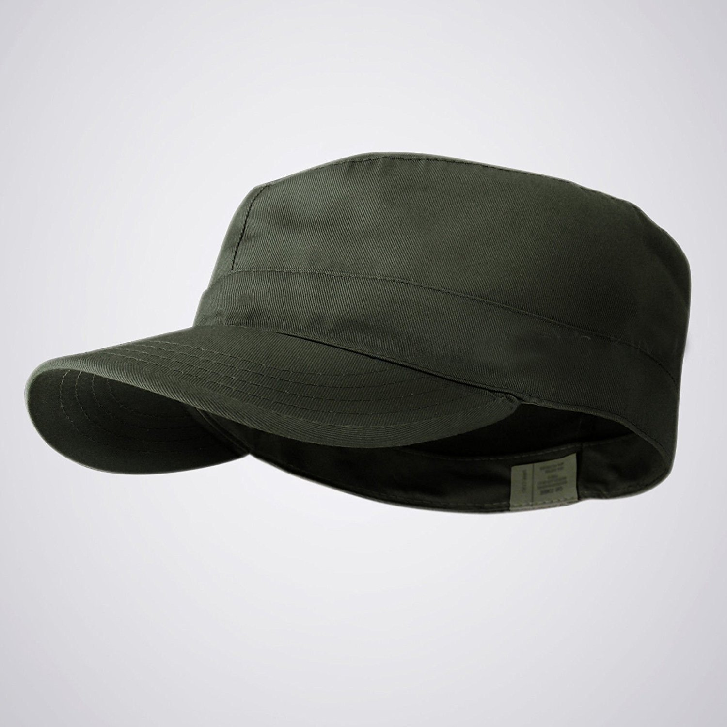 Get Quotations · Olive 54-56cm Distressed BDU Fitted Army Cadet Military  Patrol Castro Cap Hat Combat Hunting 4d4e00adad15