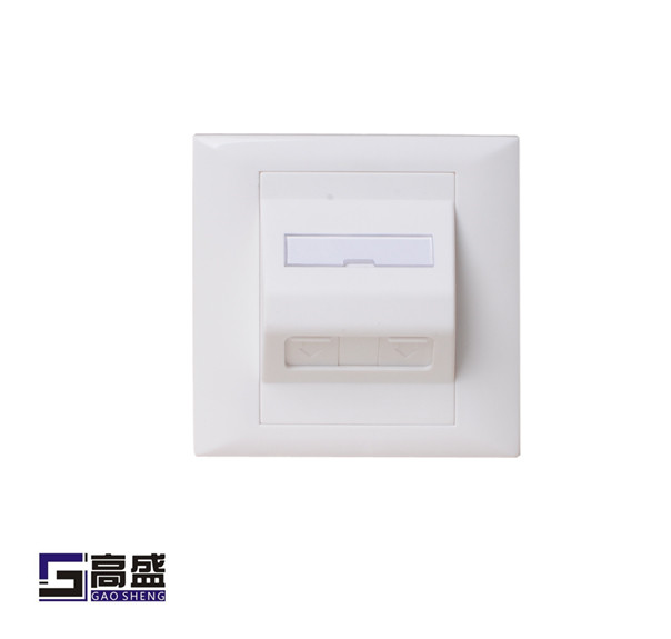 1 Port 86 X 86 Type Network Faceplate Dual Ports Arc Wall Information Face Plate Surface plate Ningbo manufacturer