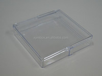 127*127*27mm clear rigid polystyrene plastic packing box