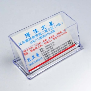 Wholesale promotional unique acrylic business card holder for desk