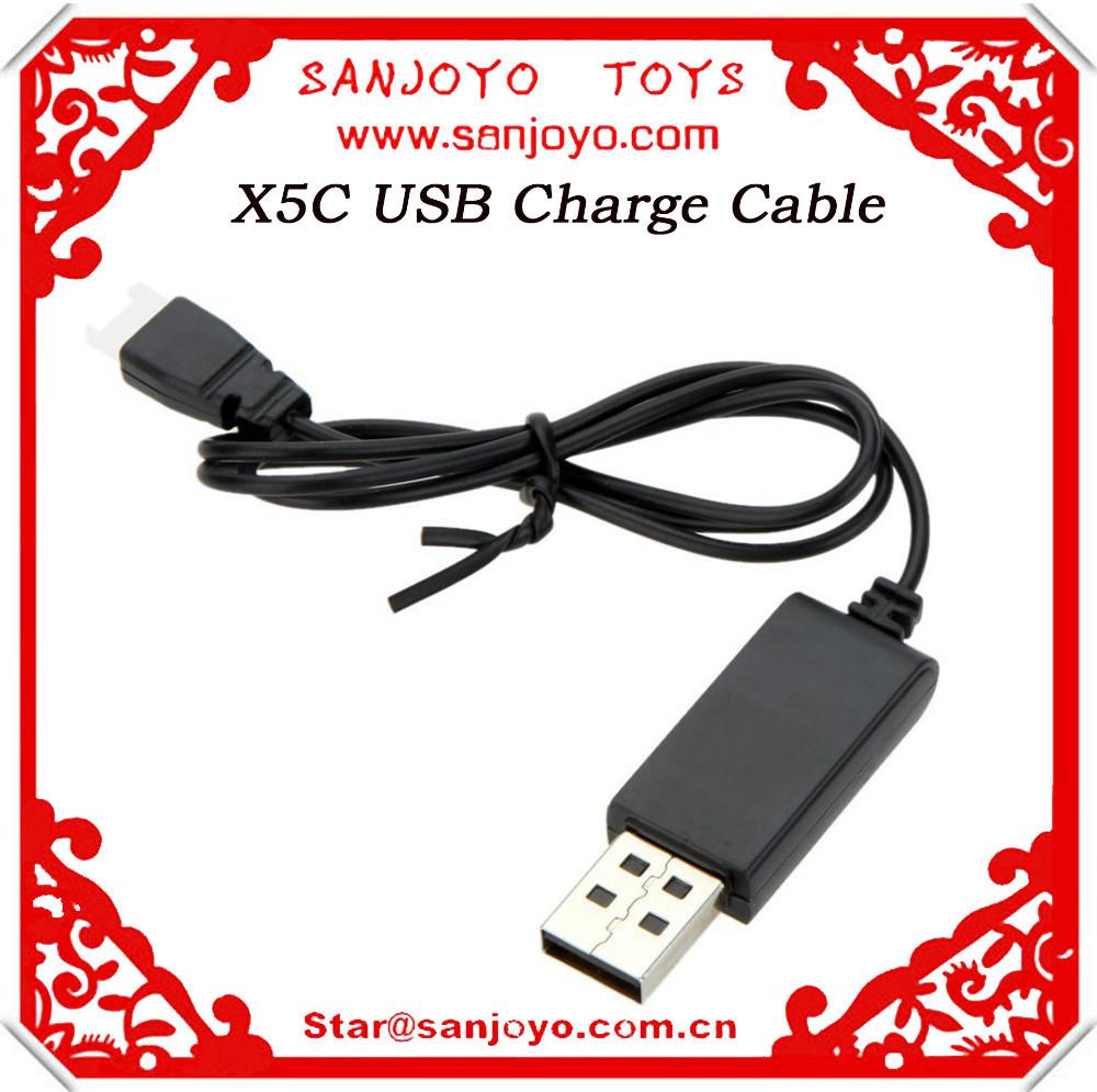 Elektrisches Spielzeug USB Ladekabel für Syma X5C RC Quadcopter Ersatzteile-Schwarz