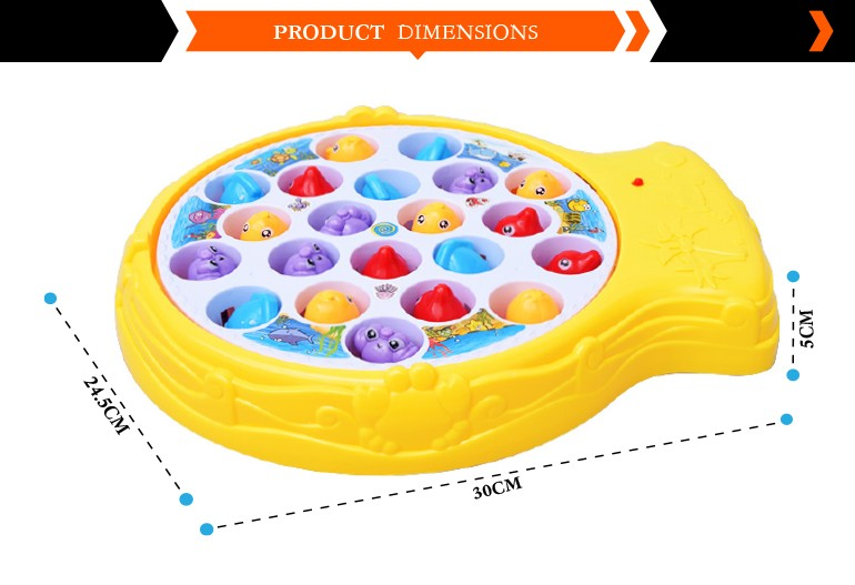 hot sale 2017 electric magnetic battery operated fishing game baby toy with music