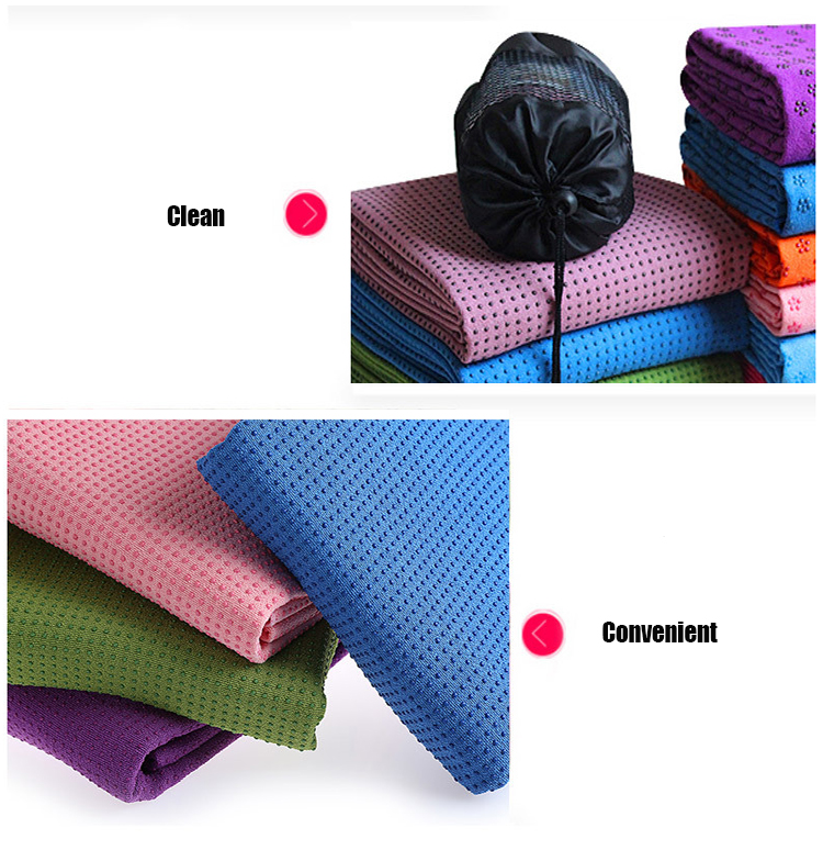 Hot Sale Sports Eco-friedgly Soft Yoga Towel Anti Slip
