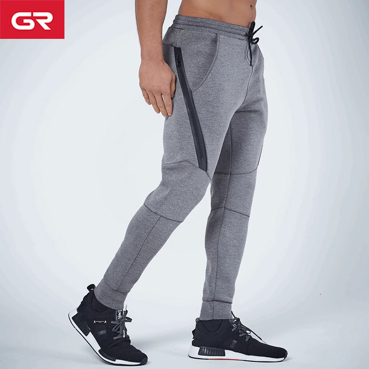 Fashion Tapered Fit Seamless Zipper Men Jogger Pants
