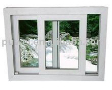 UPVC sliding window, Plastic sliding window, Vertical Sliding Window UPVC two panels horizontal open plastic sliding window