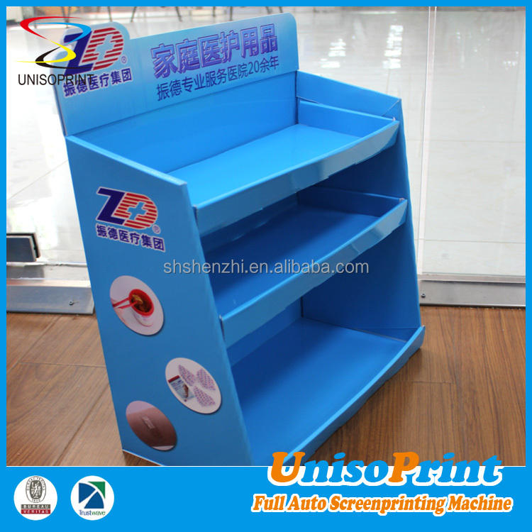 Shanghai factory produce fashionable counter cardboard small table display