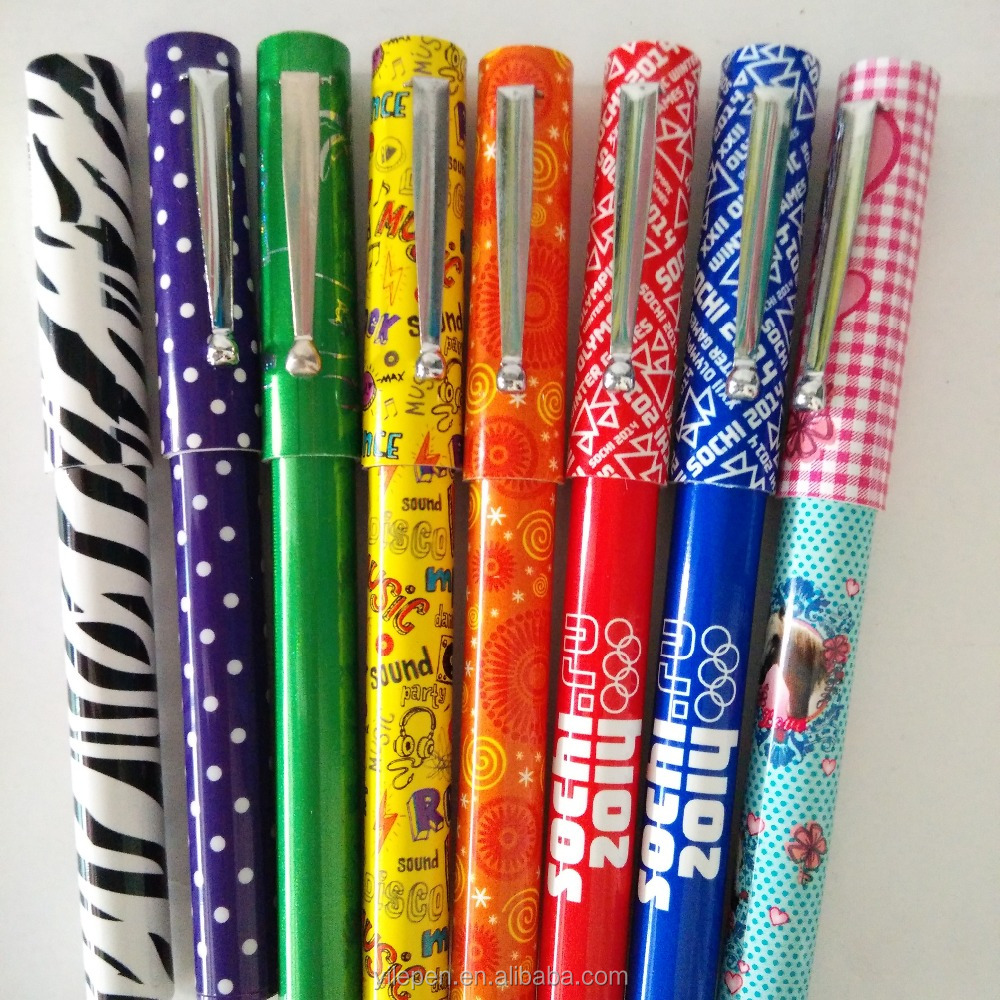 Good quality metal clip ballpoint pen with plastic body offic stationery multi color pen/wholesale metal ballpoint pen