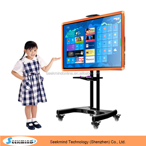 "55"" LCD finger touch interactive smart board touch screen tv"