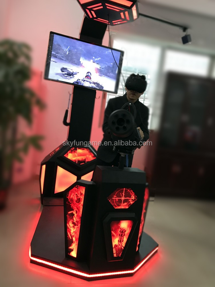 VR walker shooting HTC vive 9d vr standing up battle game simulator with gun shooting game